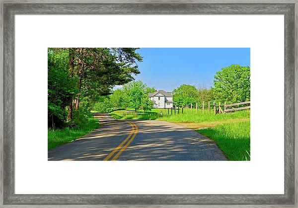 Country Roads Of America, Smith Mountain Lake, Va. Framed Print