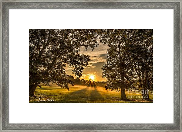 Country Time Rise Framed Print