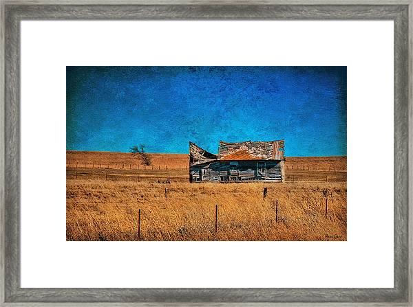 Countryside Abandoned House Framed Print