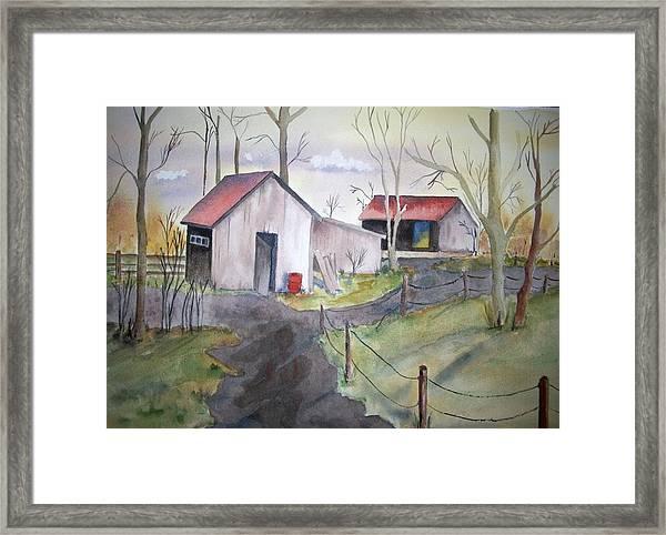 Countryside Dwellings Framed Print