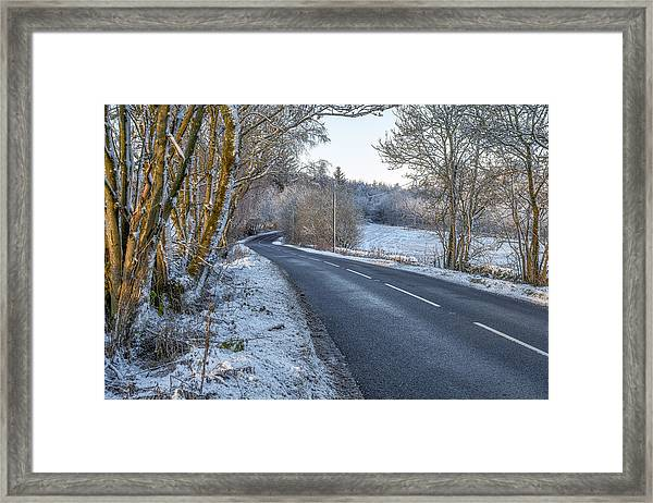 Countryside Road In Central Scotland Framed Print