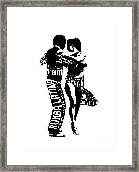 Couple Dancing Latin Music Framed Print