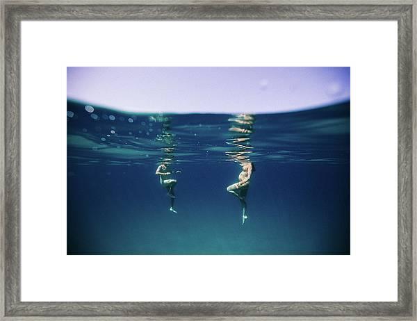 Couple Of Three Framed Print