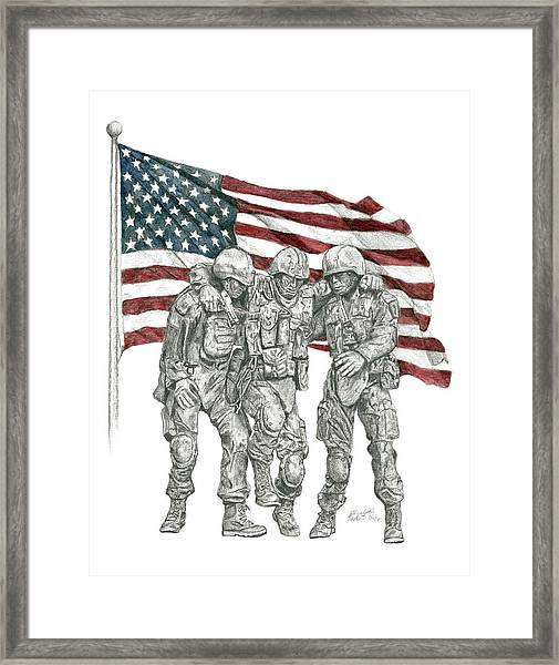 Courage In Brotherhood Framed Print