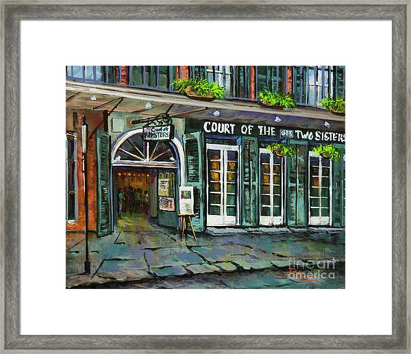 Court Of The Two Sisters Framed Print