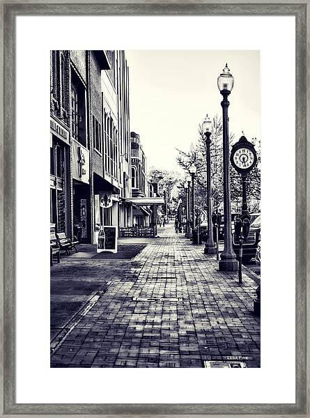Court Street Clock Florence Alabama Framed Print