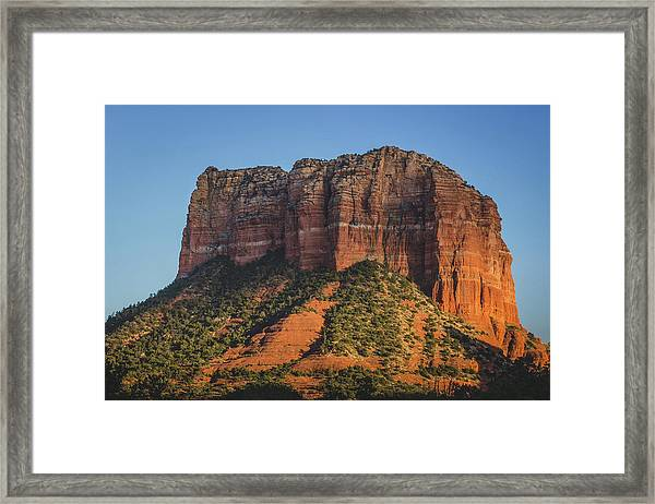 Courthouse Butte At Sunset Framed Print