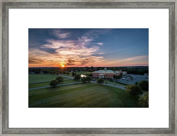 Courthouse Sunset Framed Print