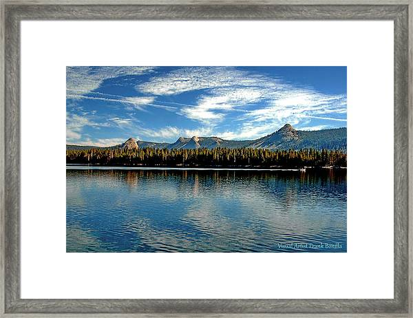 Framed Print featuring the digital art Courtright Reservoir by Visual Artist Frank Bonilla