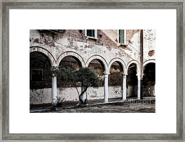 Courtyard Framed Print