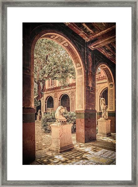 Framed Print featuring the photograph Paris, France - Courtyard West - L'ecole Des Beaux-arts by Mark Forte