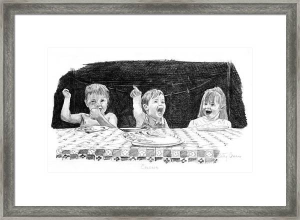 Cousins Framed Print