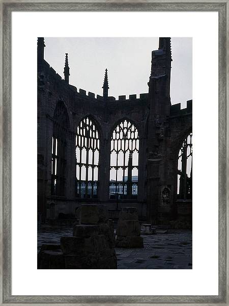 Coventry Cathedral Remains England Framed Print by Richard Singleton