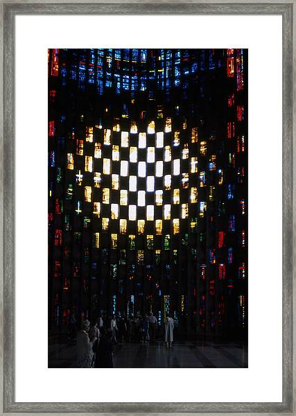 Coventry Cathedral Stained Glass Window England Framed Print by Richard Singleton