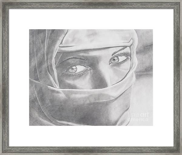 Covered Beauty Framed Print