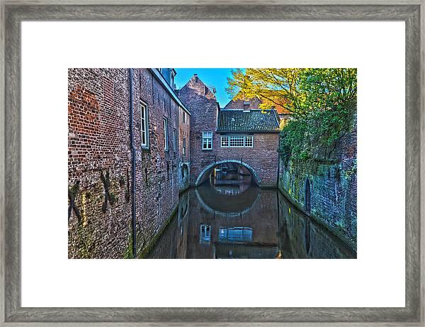 Covered Canal In Den Bosch Framed Print