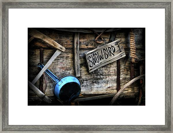 Covered Wagon Framed Print