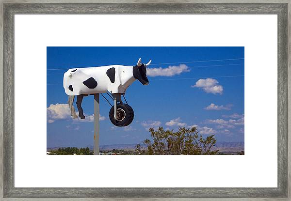 Framed Print featuring the photograph Cow Power by Skip Hunt