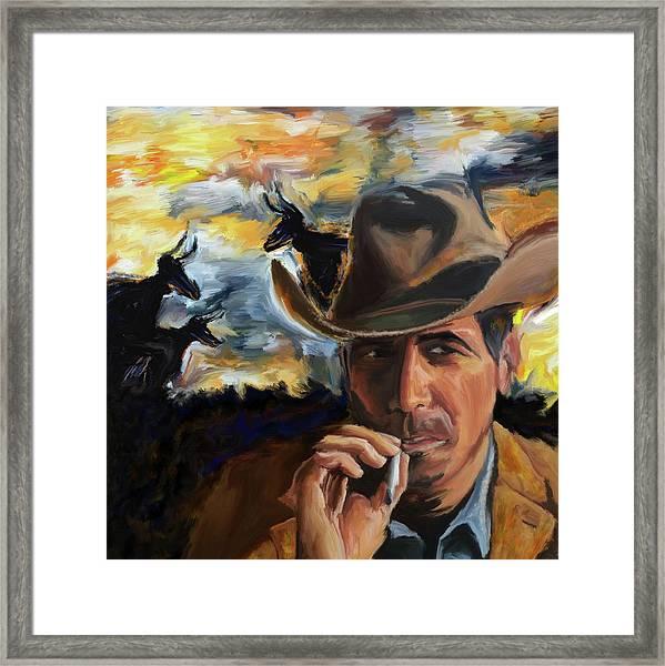 Cowboy 250 1  Framed Print