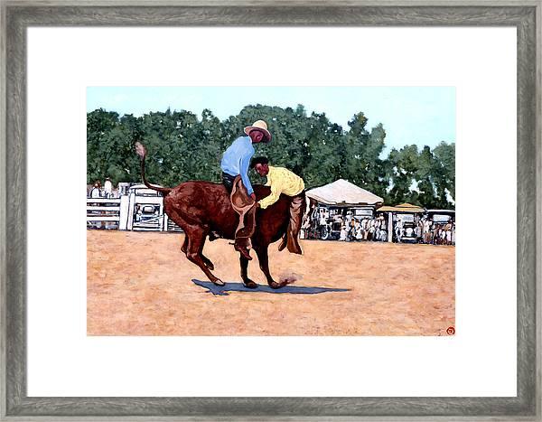 Cowboy Conundrum Framed Print