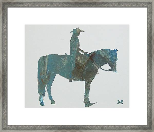 Framed Print featuring the painting Cowboy Country by Candace Shrope