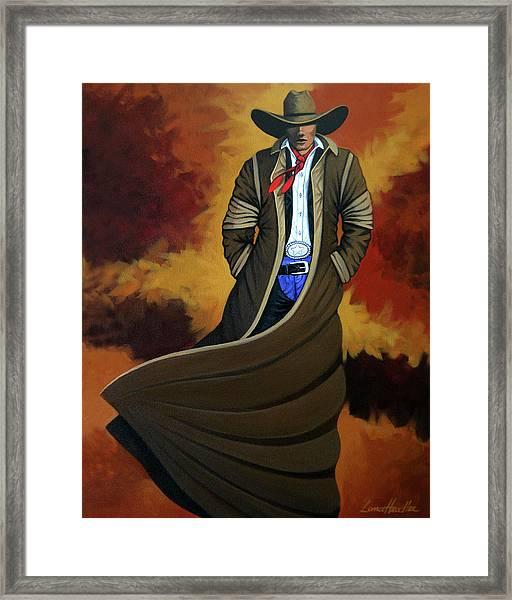 Cowboy Dust Framed Print