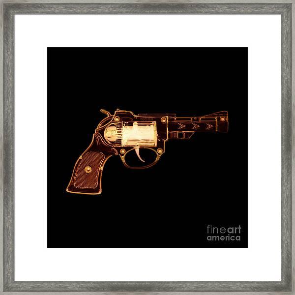 Cowboy Gun 002 Framed Print