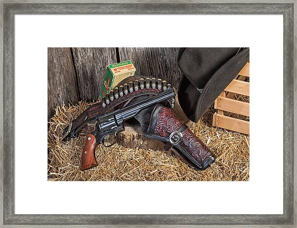 Cowboy Gunbelt Framed Print