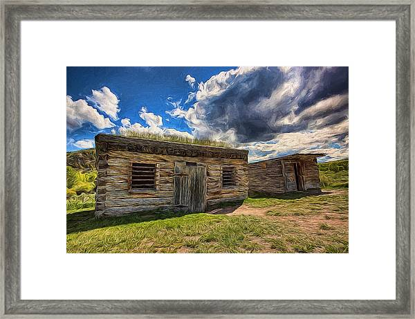 Cowboy Jail Framed Print