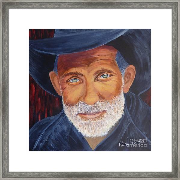 Cowboy Tex Framed Print