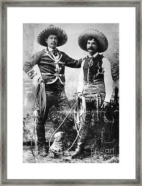 Cowboys, C1900 Framed Print