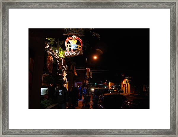 Cowgirl Bar In Santa Fe Framed Print
