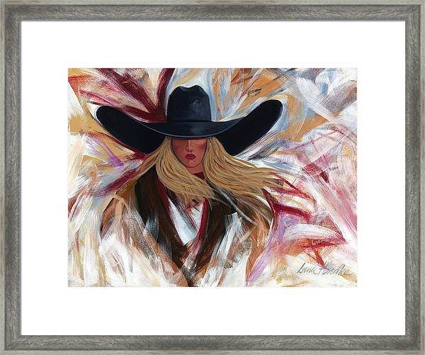 Cowgirl Colors Framed Print