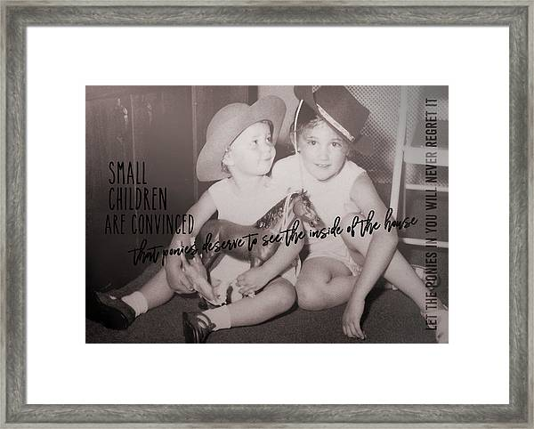 Cowgirls Quote Framed Print