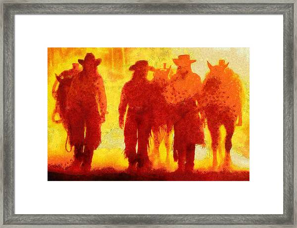 Cowpeople Framed Print
