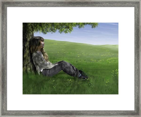 Cowslip Maiden Framed Print