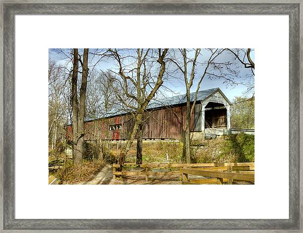 Cox Ford Covered Bridge Framed Print