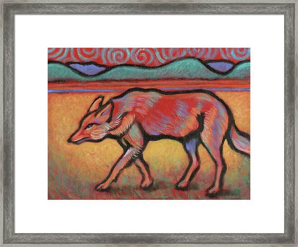 Coyote Totem Framed Print