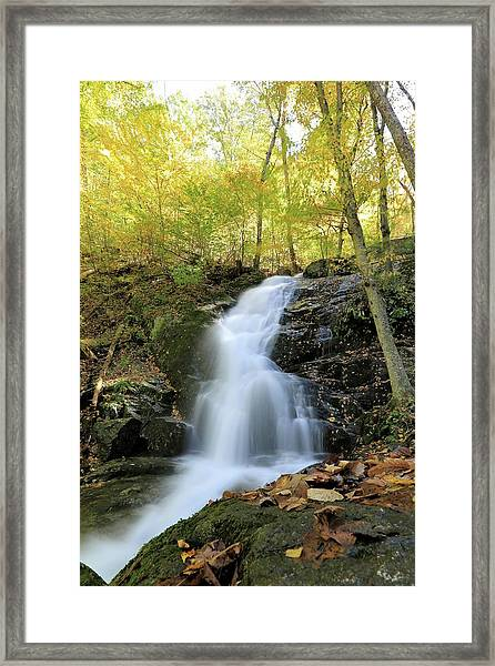 Crabtree Falls In The Fall Framed Print