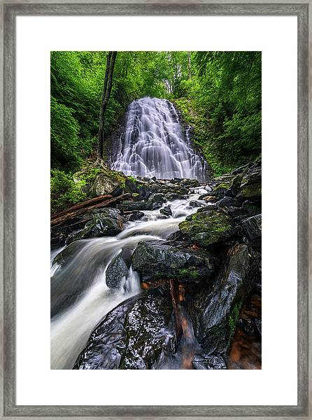 Crabtree Falls North Carolina Framed Print