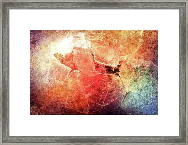 Cracks Of Colors Framed Print