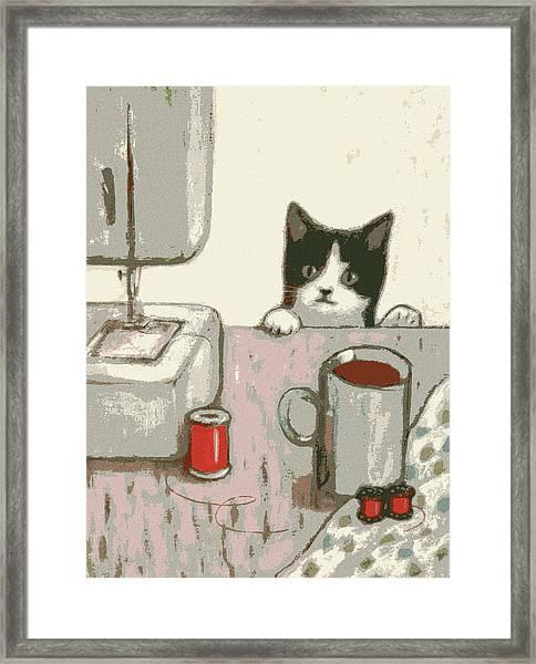 Crafty Cat #2 Framed Print