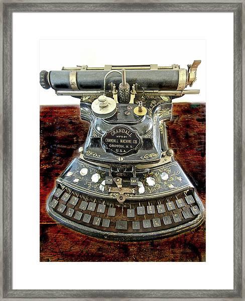 Crandall Type Writer 1893 Framed Print