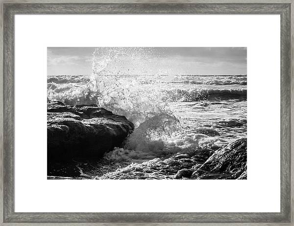 Wave Crashing  Framed Print