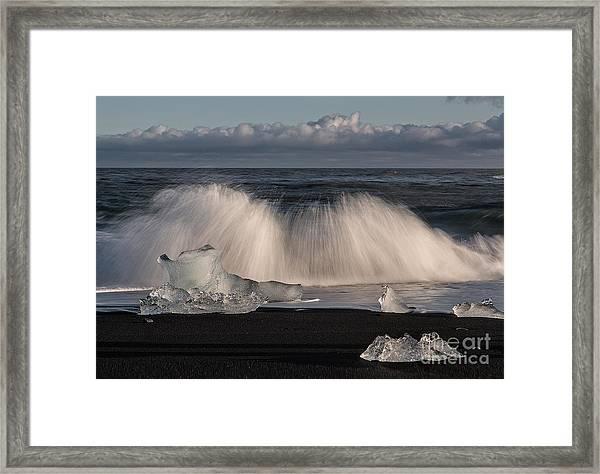 Crashing Waves Framed Print