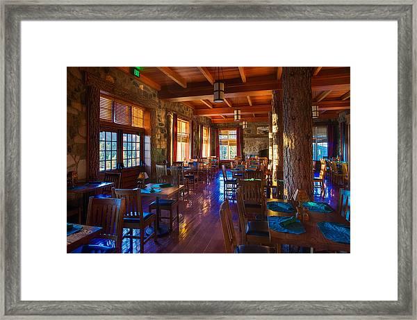Crater Lake Lodge Dining Room Framed Print