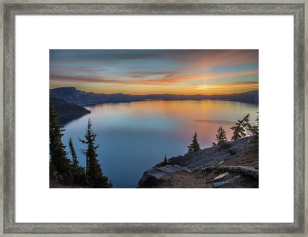 Crater Lake Morning No. 1 Framed Print