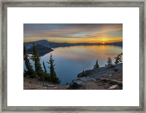 Crater Lake Morning No. 2 Framed Print