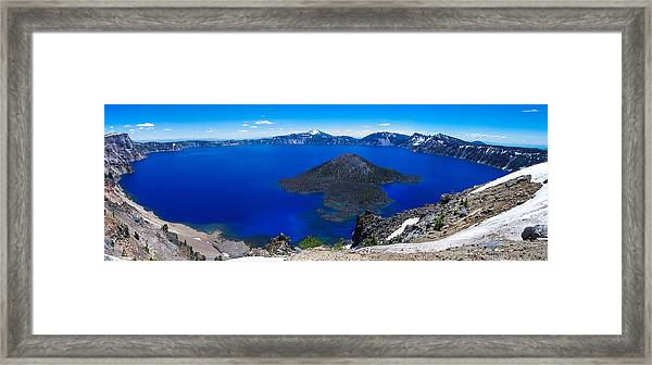 Crater Lake National Park Panoramic Framed Print