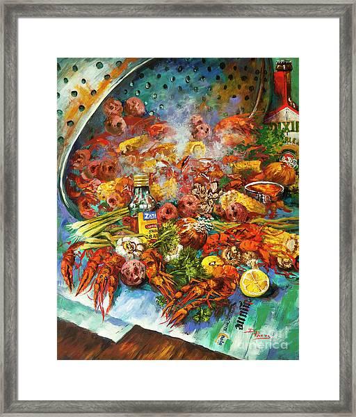 Crawfish Time Framed Print